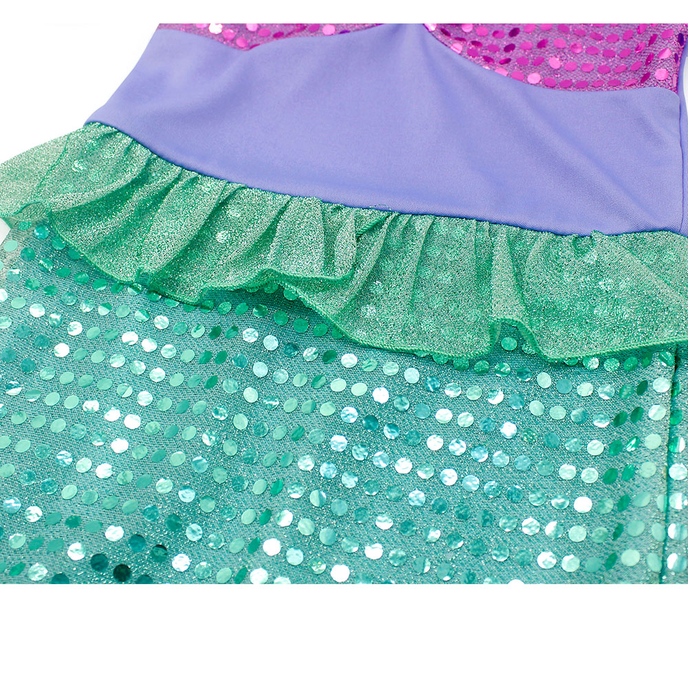 AmzBarley Little Girls Mermaid Princess Ariel dress cosplay Costume Sequins Dress Up Fancy Party Gown Dress Long sleeves Clothes in Dresses from Mother Kids
