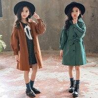 Children Clothing Autumn Winter Jacket Girl Trench Coat Sleeves Long Jacket For Girls Windbreaker Coat For Kids Winter Jacket