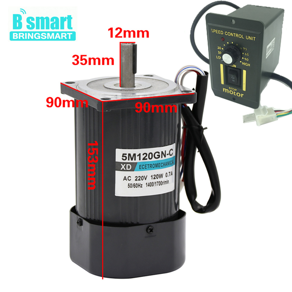 220v Single Phase Motor, Speed Controllers For Electric Motors 220V CW/CCW,120W 1400rpm/2800rpm Adjust Speed High Speed AC Motor d shaft bldc motor gear 12v 24v 5 1270rpm adjustable speed cw ccw electric motors for toys cars for kids to ride diy toy etc