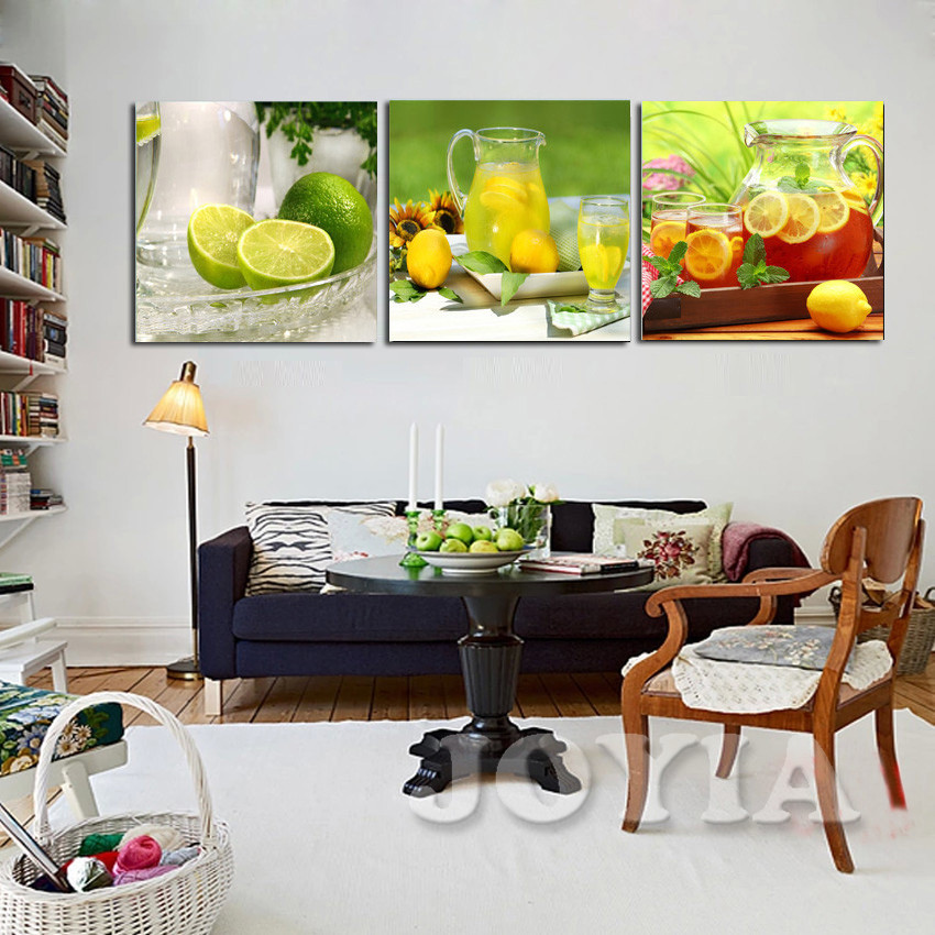 ヾ(^▽^)ノFruta moderna pinturas de pared, Limón té fotos inicio ...