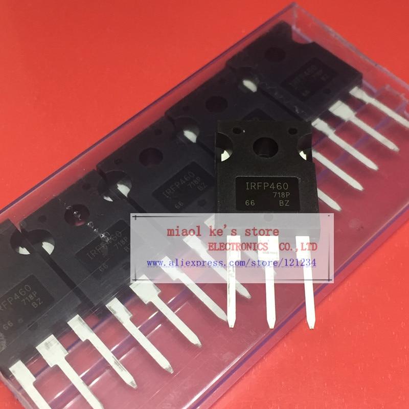 [5pcs/1lot Or 10pcs/1lot ]100%New Original; IRFP460NPBF IRFP460PBF IRFP460N IRFP460 - MOSFET N-Channel 500V 20A 280W TO-247AC
