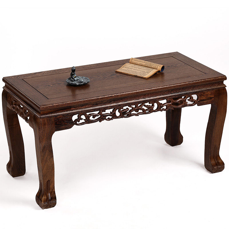 Mahogany furniture wooden wood table Kang several windows carved antique tatami platform