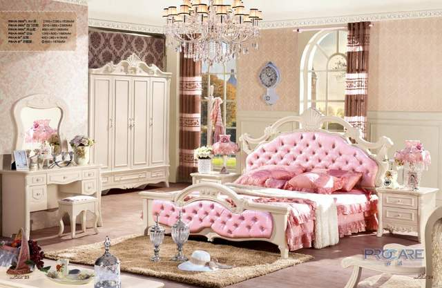 Nightstand European Style Unique Bedroom Furniture Sets With ...
