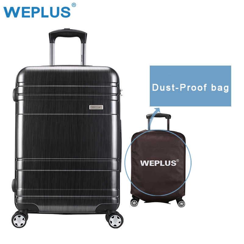 0b05d25106e9 WEPLUS 24 дюймов прокатки Чемодан на колесиках случае путешествия чемодан  Прямая доставка Spinner чехол тележка чемодан