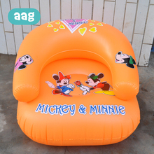 цена на AAG Portable Baby Inflatable Sofa Folding Cute Cartoon Kid Sofa PVC Baby Learning to Sit Sofas Children Bathroom Chair Seat *