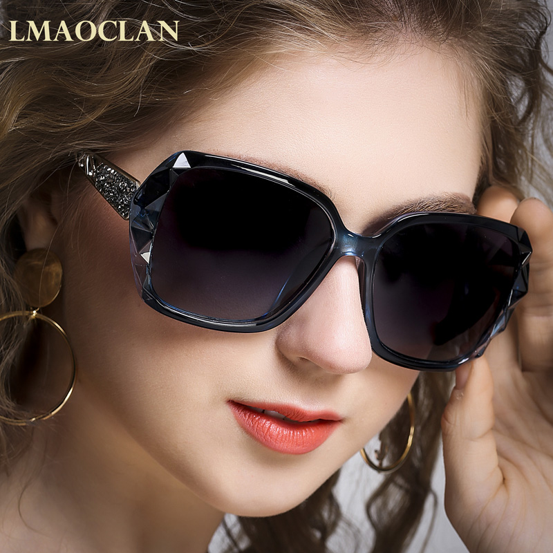 2018 Luxury Brand Design HD Polarized Zonnebril Dames Dames Oversized - Kledingaccessoires - Foto 4