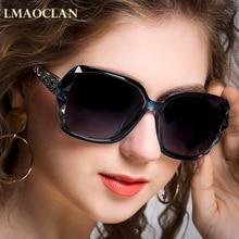 LMAOCLAN Brand Luxury Design HD Polarized Sunglasses Women Ladies Oversized Sun Glasses Female  Eyewear Oculos UV400