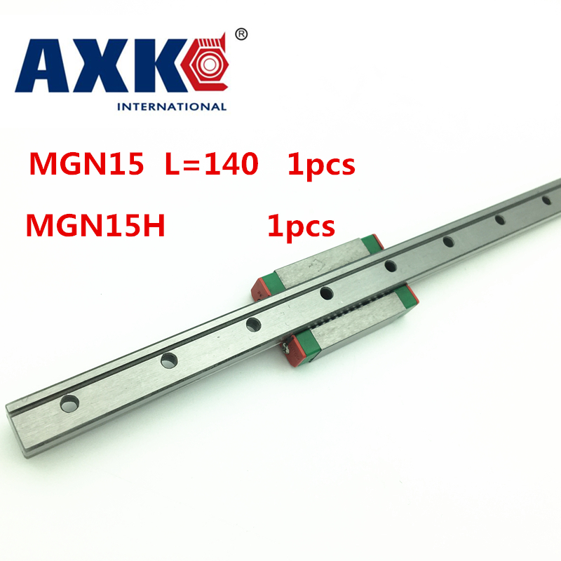 NEW 15mm miniature linear guide MGN15 L= 140mm rail + MGN15H CNC block for 3D printer parts XYZ cnc parts new arrival 1pc hss drill bit holesaw set twist drill bits hole saw cutter power tools 110 120 130 140mm for aluminum iron pipe