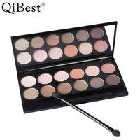 Qibest Charm 12 Colors Eyeshadow Pallete Earth Color Bare Makeup Eye Shadow Pan Smoke Suit Combination