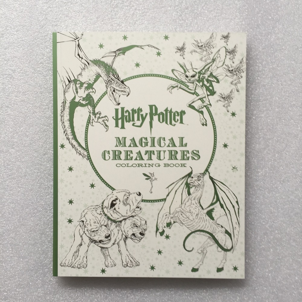 Harry Potter Magical Creatures Coloring Book Secret Garden Style Coloring Book Adult Stress