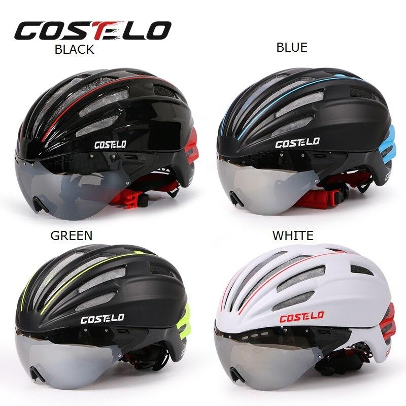 ФОТО Costelo Cycling Helmet 4 Colors MTB Mountain Road Bike Bicycle Casco Speed Airo RS Ciclismo Goggles Bicicleta