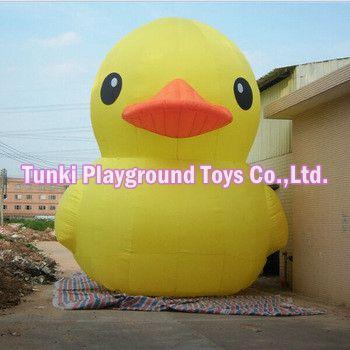 3 метра гумени ликови на надувавање жута патка за продају