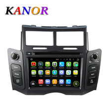 New Quad Core GPS Navigation Android 5.11 For Toyota Yaris Car Radio DVD Player+Audio+Stereo Dual Zone Function AirPin SWC USB