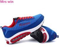 Jesień W Stylu Mężczyzn Air Mesh Sneakers Oddychające Buty Na Zewnątrz Mężczyźni Buty Do Biegania POWIETRZA Wysokiej Jakości Obóz Trener Jogging Buty