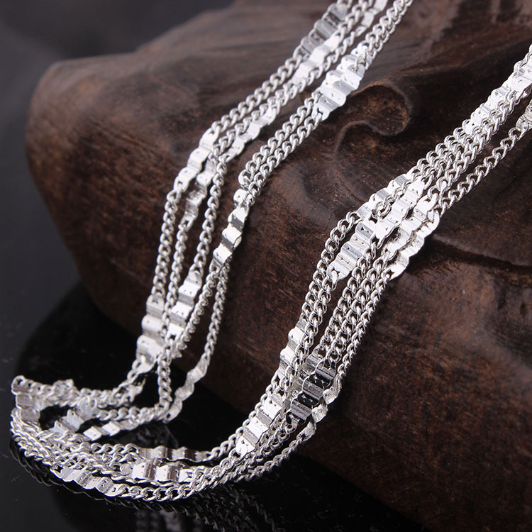 Just Wholesale Silver Plated Chain For Pendant Women Vintage Jewelry Stock 16 18 20 22 24 26 28 30 Inch High Quality Luxury Necklace Outstanding Features