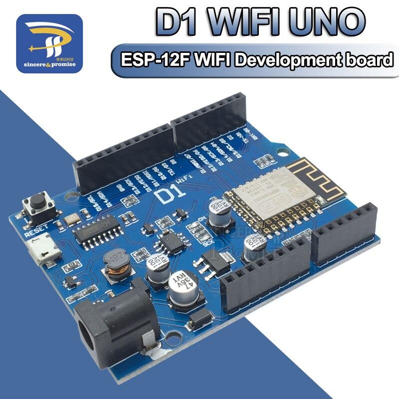 ESP-12F 12E WeMos D1 WiFi UNO Based ESP8266 Shield For Arduino R3 Development Board Compatible IDE