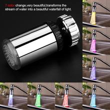 Bathroom Accessories Led Water Faucet Aerators 7 Colors Changeable 360 Degree Rotating Kitchen Basin Temperature Sensor