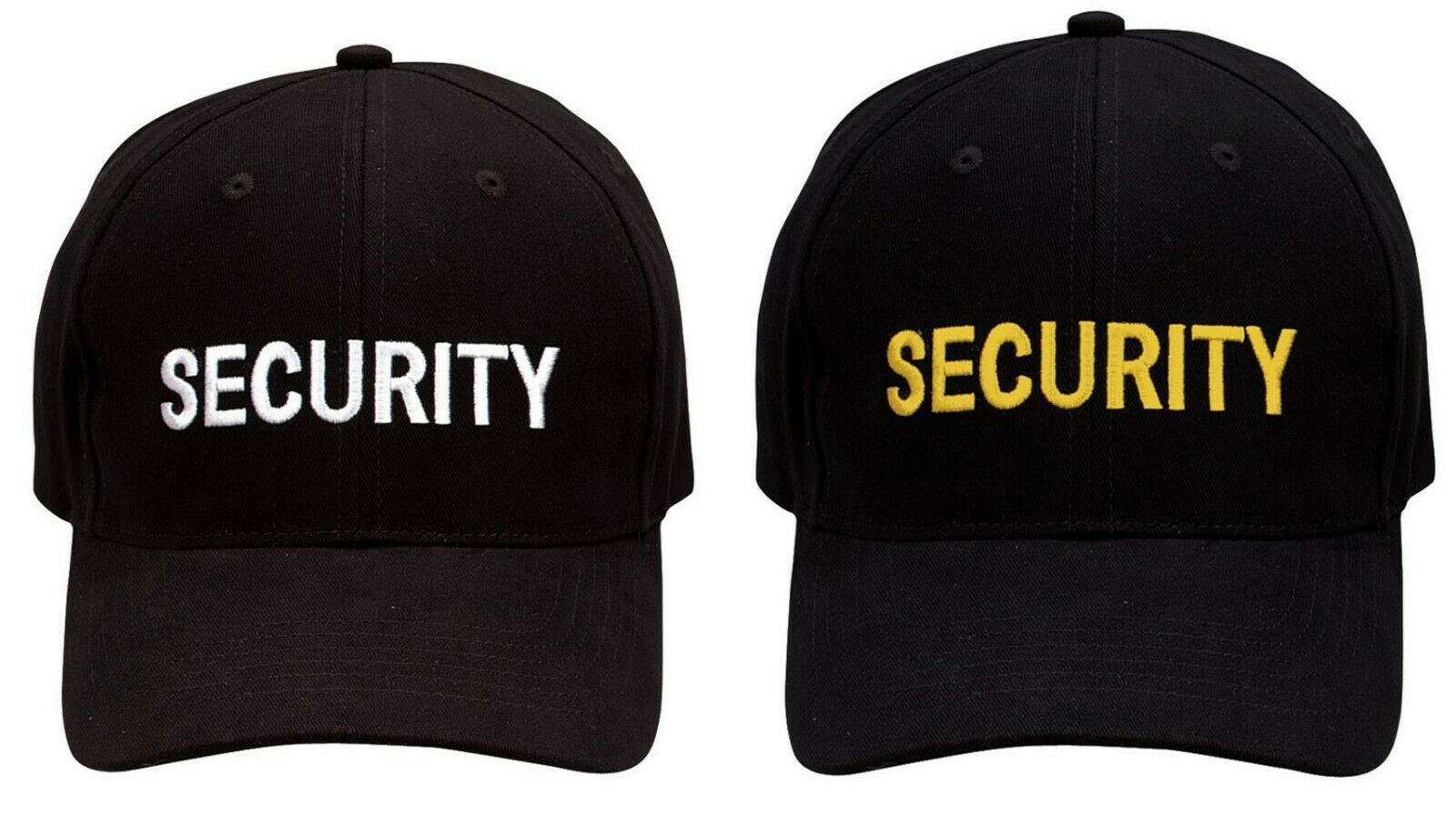 Black Security   Baseball   Uniform   Cap   Ballcap Hat