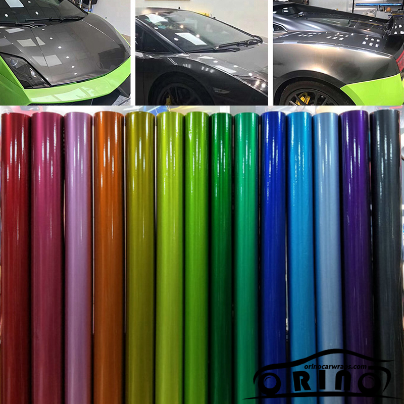 Glossy Red gloss metallic vinyl wrap Roll For car 5ft X 65ft Roll vinyl wrap Gloss