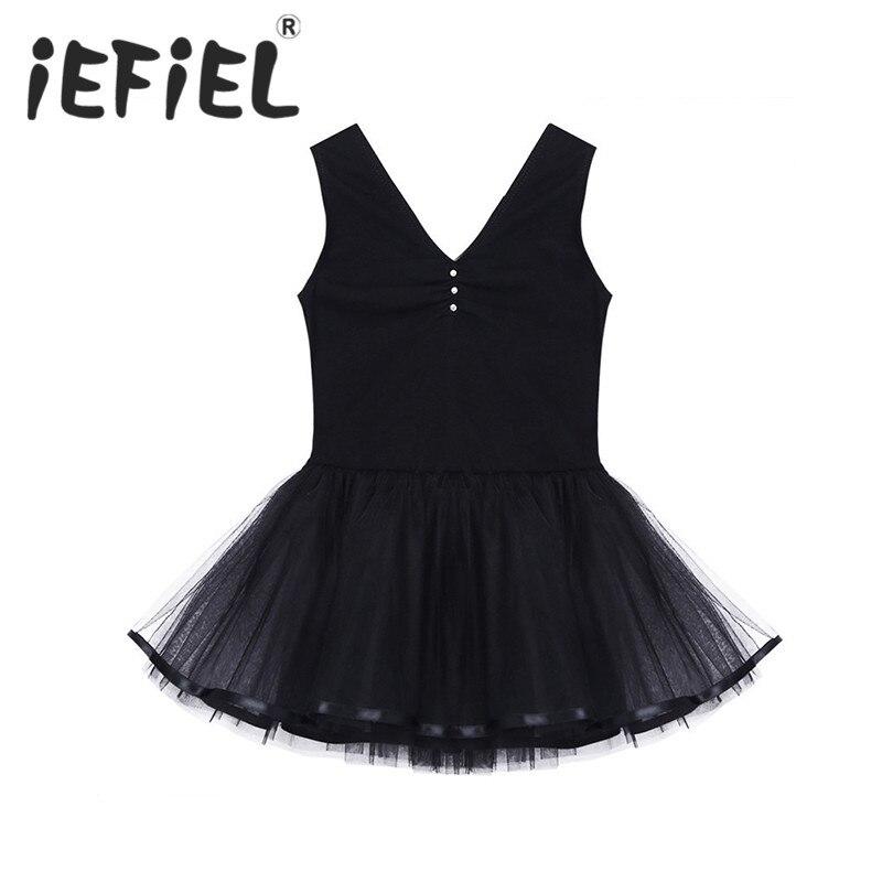 iEFiEL Children Girls Tulle Tutu Princess Ballet Dress Gymnastics Ballet Leotard Dancer Dress Tulle Performance Costume Clothes