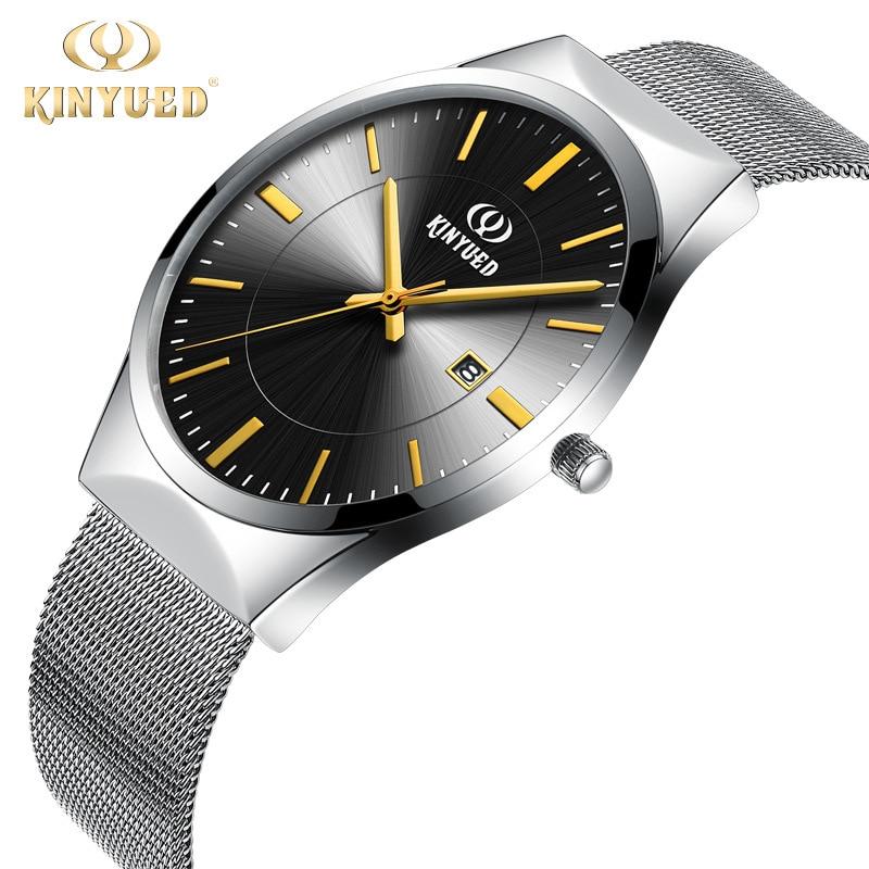 online get cheap watches thin wrists aliexpress com alibaba group 2016 kinyued brand fashion sports men watch steel analog quartz dress wrist watch women thin calendar