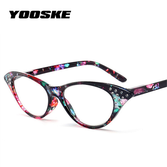 54025913d73 YOOSKE Rhinestone Reading Glasses Women Cat Eye Eyeglasses Ladies Glasses  for Reader Vintage Spectacles-in Reading Glasses from Apparel Accessories  on ...