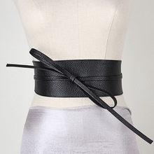 New Lace Up Belt For Women Leather Wide Corsets Cummerbunds Strap Belts Girl High Waist Slim Girdle Belt Ties Bow Bands eyelet lace up wide belt