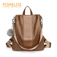 POMELOS Backpack Female Fashion Women PU Leather Purse Backpack High Quality Rucksack Woman Travel Back Pack