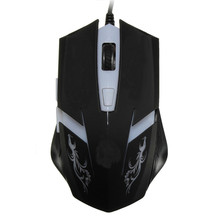 Professional Backlight Gaming Mouse 800/1200/1600/2400DPI Adjustable LED USB Wire Optical Game Mice For PC Computer Gamer Laptop