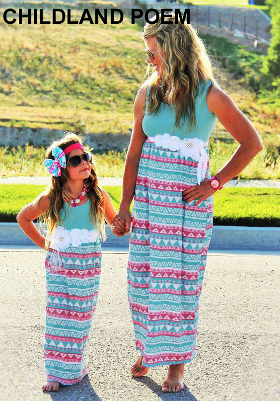 mother daughter dresses flower maxi dress mom and daughter dress family look mother daughter matching clothes