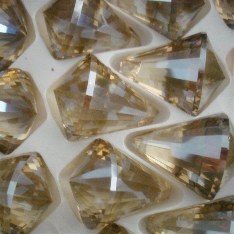Wholesales 10pcs 30mm Cognac Color Prism Balls Glass Smooth Chandelier Ball For Wedding&Home Decoration Crystal Balls Pendants