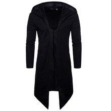 men Trench Coat Spring Fashion Casual Long Windbreaker Slim