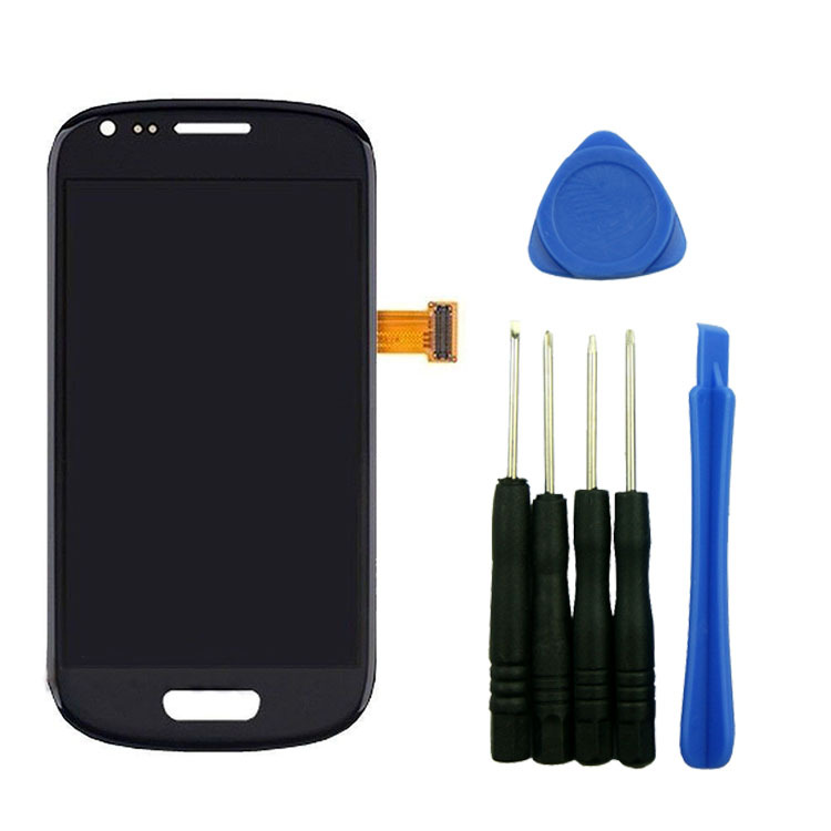 ФОТО Blue LCD Display Touch Screen Digitizer Assembly For Samsung Galaxy S 3 III MINI i8190 with tools