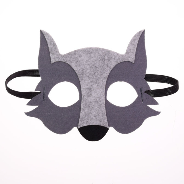 Mask Super Hero Wolf Rabbit Animals Face Giraffe Tiger Mask Kids Children Birthday Costume DIY Masquerade Eye Mask Cosplay Xmas 1
