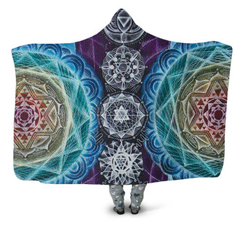 Mandala Flower Hooded Blanket 6