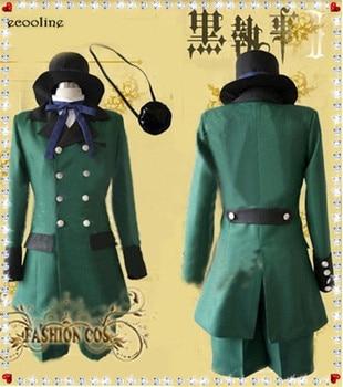 Hot Anime Black Butler Ciel Phantomhive Action Figure Unfiorm Suit Cosplay Hallowmas Black Butler Costume Custom-made Any Size