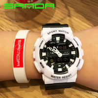 2016 New SANDA Watch Men G Style Waterproof Sports Watches S Shock Men's Analog Quartz Digital Watches OP001