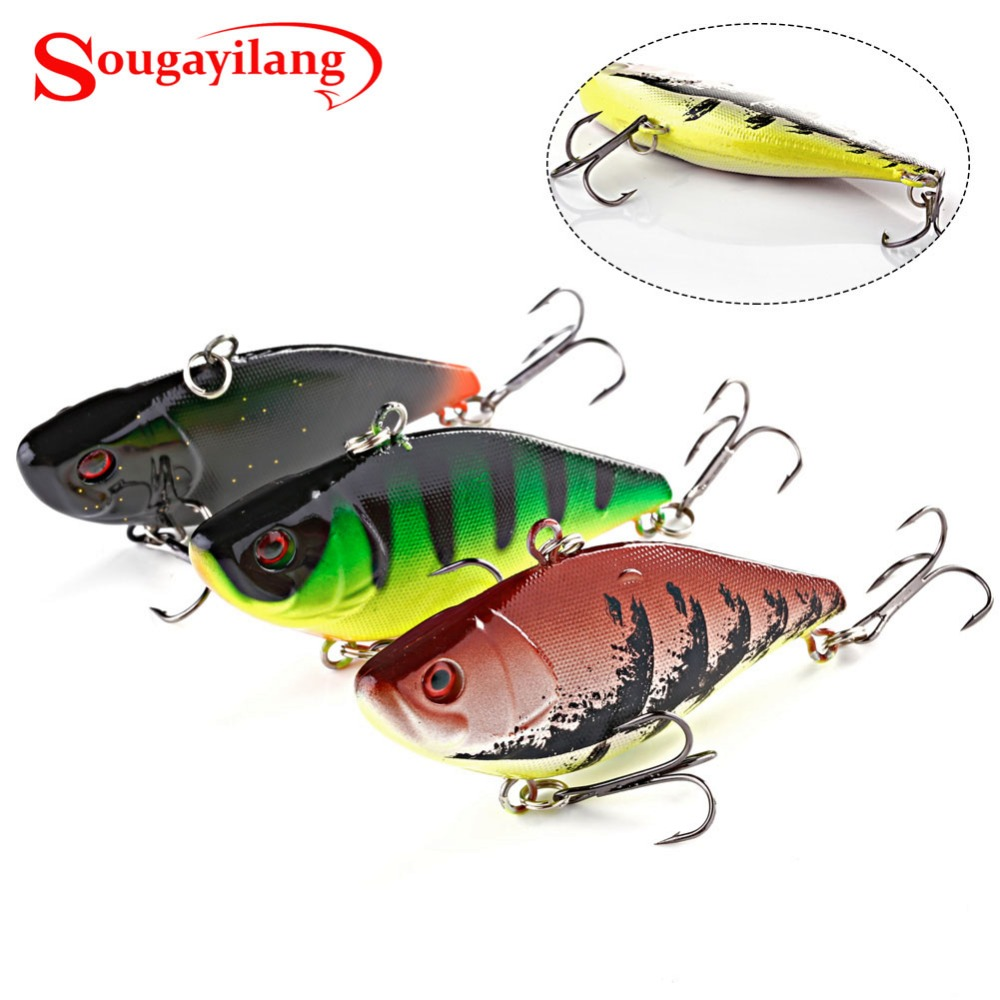 Sougayilang 1pcs 7cm Crank Fishing Lures Minnow Crank Bait Artificial Lure Perch Fish Pesca Hooks Tackle Bass Wobbler Crankbait 1 pcs fish lure topwater popper minnow freshwater fishing lures bass bait tackle 4 treble hook fishing lure bait color random
