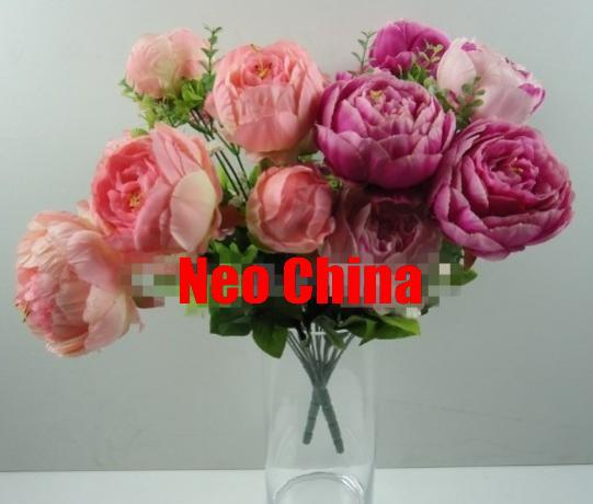Wholesale 7 head imperial concubine peony flowershigh 48cmwedding wholesale 7 head imperial concubine peony flowershigh 48cmweddinghome decoration mightylinksfo