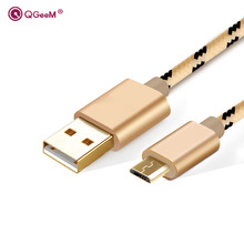 USB cable Micro USB Cable Nylon Braided Data Sync Charging Android cable For Samsung HTC LG Galaxy Android Phone