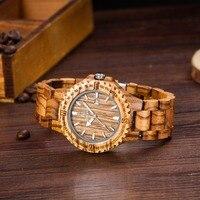 UWOOD Dress Quartz Watches Men Natural Eco Wooden Japan Movement Casual Man Clock Auto Calendar Butterfly