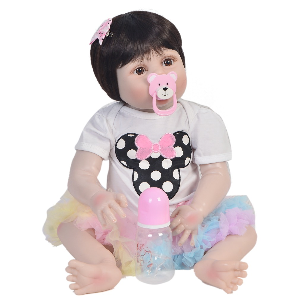Bebes reborn toys girl body full silicone reborn baby doll 2357cm baby toddler doll reborn can bathe boneca rebornBebes reborn toys girl body full silicone reborn baby doll 2357cm baby toddler doll reborn can bathe boneca reborn
