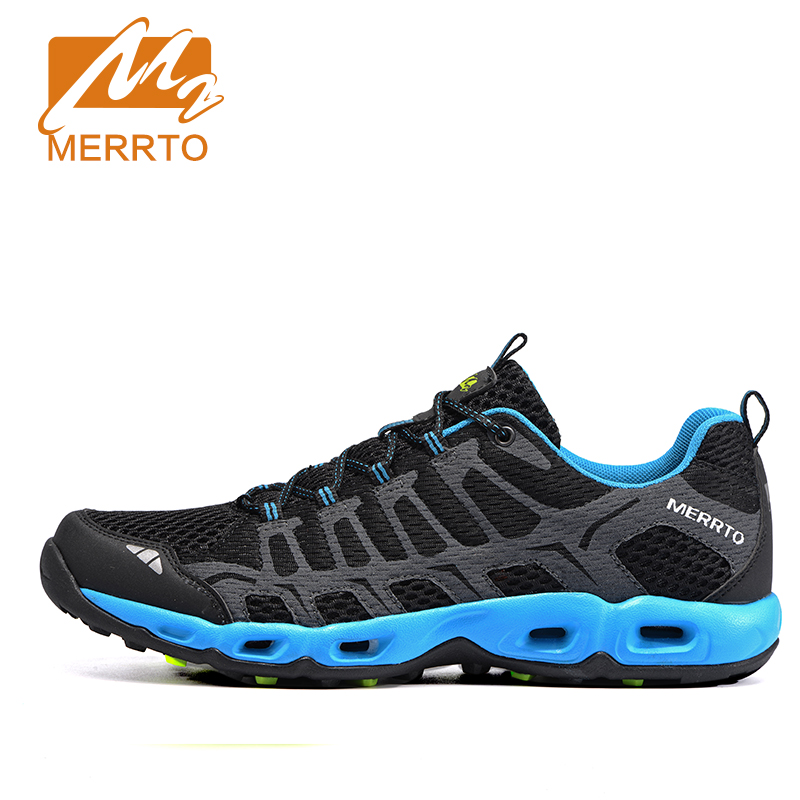 2018 Merrto Mens Trail Running Shoes Lightweight Runner Sports Shoes Breathable Mesh Outdoor Shoes For Men Free Shipping MT18597