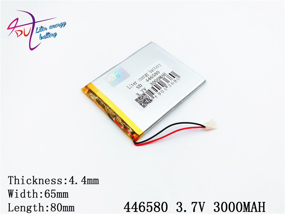 446580 3.7V 3000mah Lithium LiPo Polymer Rechargeable Battery 406580 For DIY MP4 MP5 Tablet PC E-Book Mobile Power video game