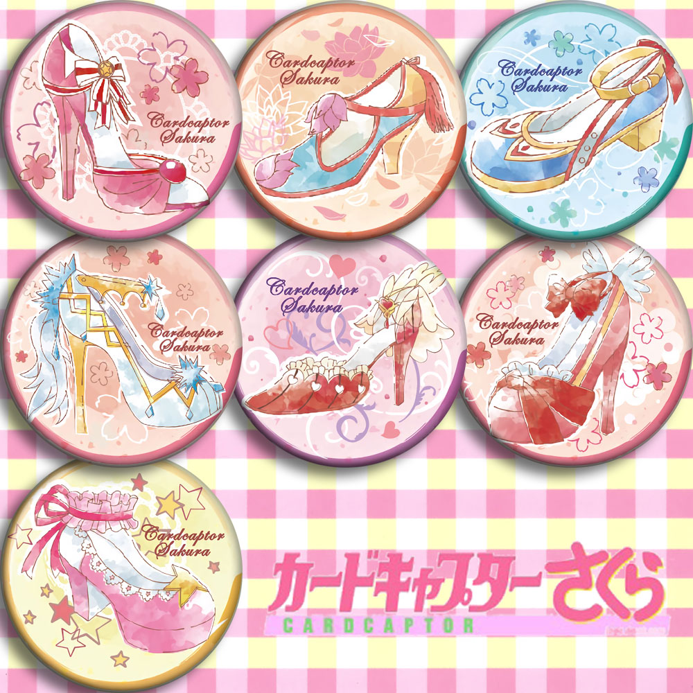 Japan Anime Card Captor Sakura CLEARCARD Cosplay Badge Cartoon Collection Backpacks Badges Bags Button Brooch Pins Gift