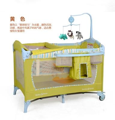 Berceau européen Portable pliant nouveau lit bébé multi-fonction lit de jeu pour enfants nouveau lit de voyage bébé nouveauté berceau - 3