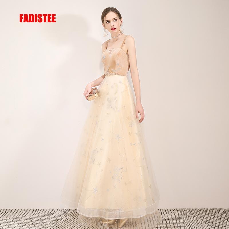 FADISTEE New arrival evening elegant   prom     dresses   Vestido de Festa gown Robe De Soiree lace double shoulder champagne   dresses