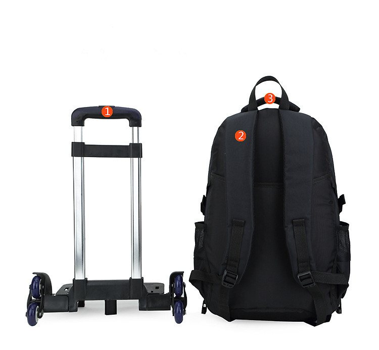 Latest Removable Children School Bags With Wheels Stairs Kids Boy Trolley Schoolbag Luggage Book Wheeled Backpack In From