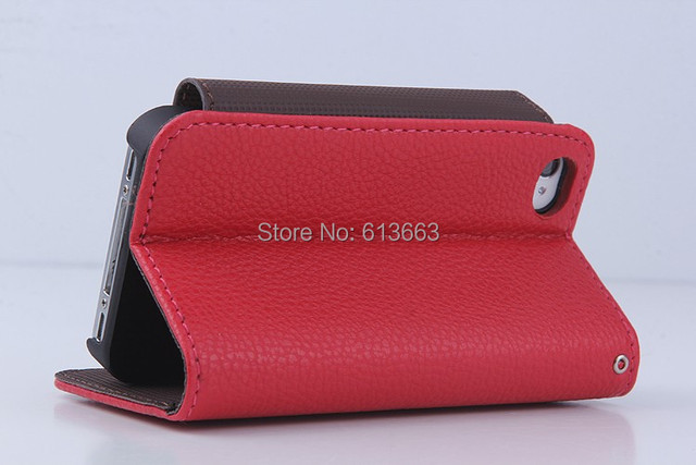New Arrival Luxury Original PU  Leather Case for iphone 4/4s,PU Leather Cover High Quality,50pcs/lot,Factory Price