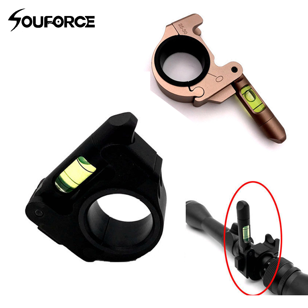 1pc Holder Scope Spirit Level Bubble with 25mm/30mm Tube Level Mount Ring Fit Riflescope for Hunting Gun Accessory